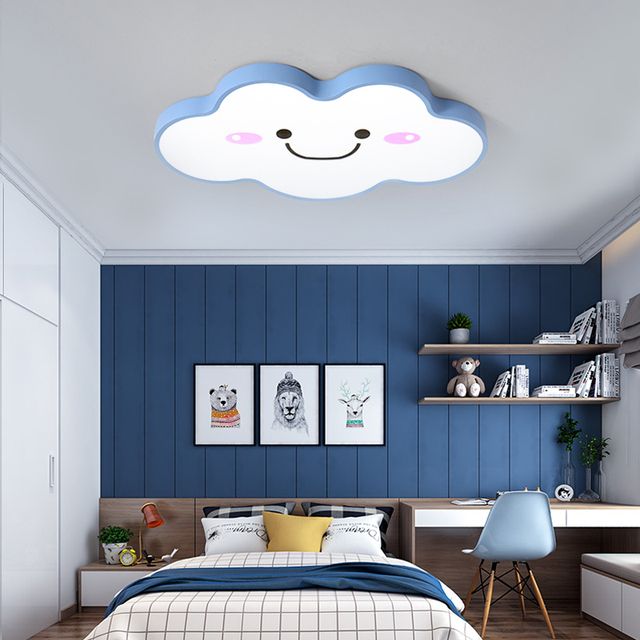 Moon Star Hello Kitty Bedroom Princess Girls Boys Baby Children Kids Room  Light Lighting Modern Led Ceiling Lamp With Remote