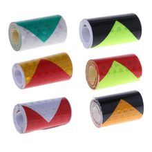 5cm*100cm Arrow Reflective Tape Safety Caution Warning Adhesive Sticker For Truck Motorcycle Bicycle Car Styling