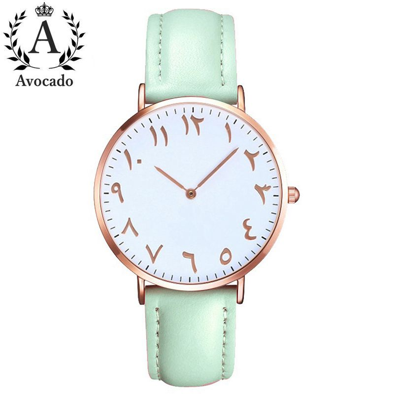 Top Luxury Brand Arabic Numbers Ladies Watches Women Fashion Casual Leather Quartz Watch Female Clock Montre Femme Horloges Saat