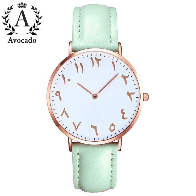 Top Luxury Brand Arabic Numbers Ladies Watches Women Fashion Casual Leather Quartz Watch Female Clock Montre Femme Horloges Saat