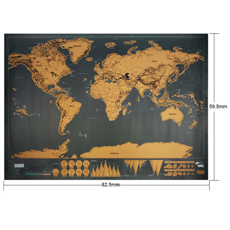 Scratch map travel 825 x 595cm deluxe traveler scratch off color black size 825 x 595 cm material paper colored aluminum laminate net weight about 150g package includes 1 x scratch map world map poster gumiabroncs Images