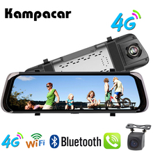 Kampacar 10 Inch Android Smart Rearview Mirror font b Camera b font Dvr Car 4G GPS