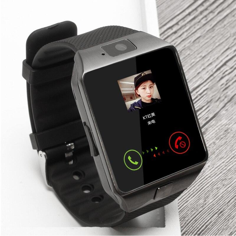 imágenes para Venta grande bluetooth smart watch reloj de sim soporte de tarjeta tf para Cámara de un Teléfono Android y IOS Podómetro BT Llamada DZ09 pk GT08