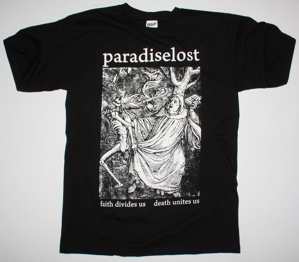PARADISE LOST FAITH DIVIDES US DEATH UNITES US BLACK T SHIRT DOOM GOTHIC METAL