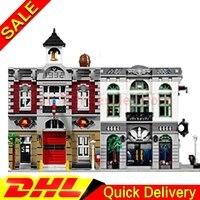 LEPIN 15001 Brick Bank Lepin 15004 Fire Brigade Model Building Street Sight Kits Blocks Bricks Lepins