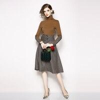 2 Piece Set Women Business Knee Length Skirt Suits For Women Office Formal Blouse Skirt sets