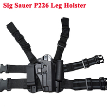 Tactical Gun Carry Military Combat Sig Sauer P226 Pistol Leg Holster Hunting Equipment Right Hand Thigh 3 Colors