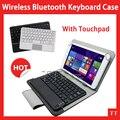Universal Caso de Teclado Sem Fio Bluetooth com touchpad para X80 x80h mais x80hd p80h teclast Bluetooth Keyboard Case + 3 presentes