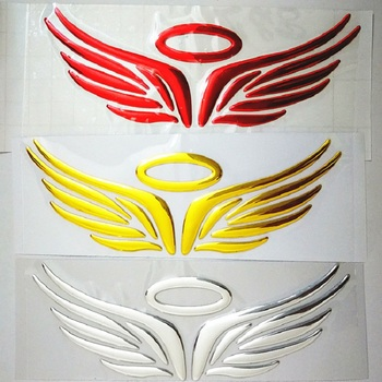 Guardian Angel Wings Lovely Reflective Car Stickers Fashion Car Rearview Mirror For Strip Subsection image
