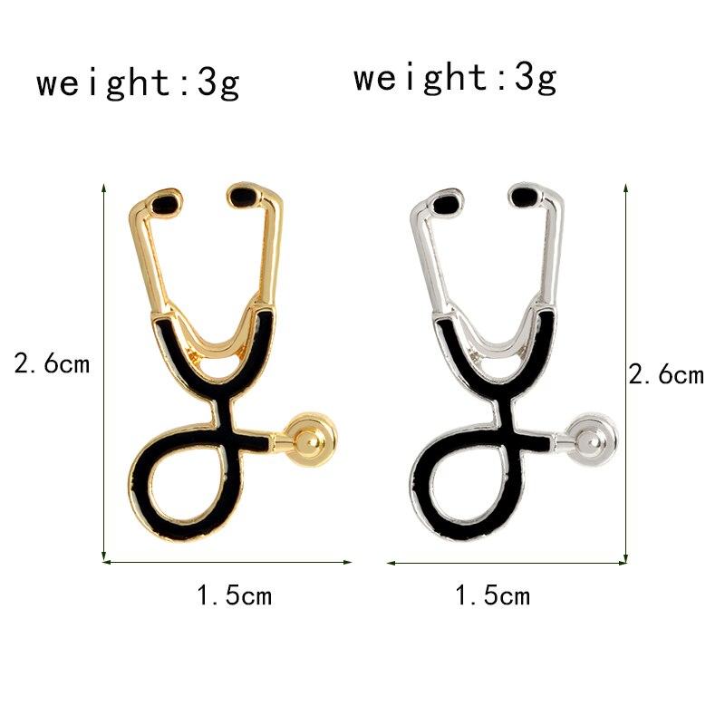 Miss-Zoe-Mini-Stethoscope-Brooch-Pins-Rose-Gold-Silver-Gun-Black-Collar-Corsage-Doctors-Nurse-Medical(1)