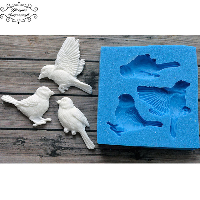 Yueyue Sugarcraft Vogels Silicone mold fondant mold cake decorating gereedschap chocolade gumpaste mold