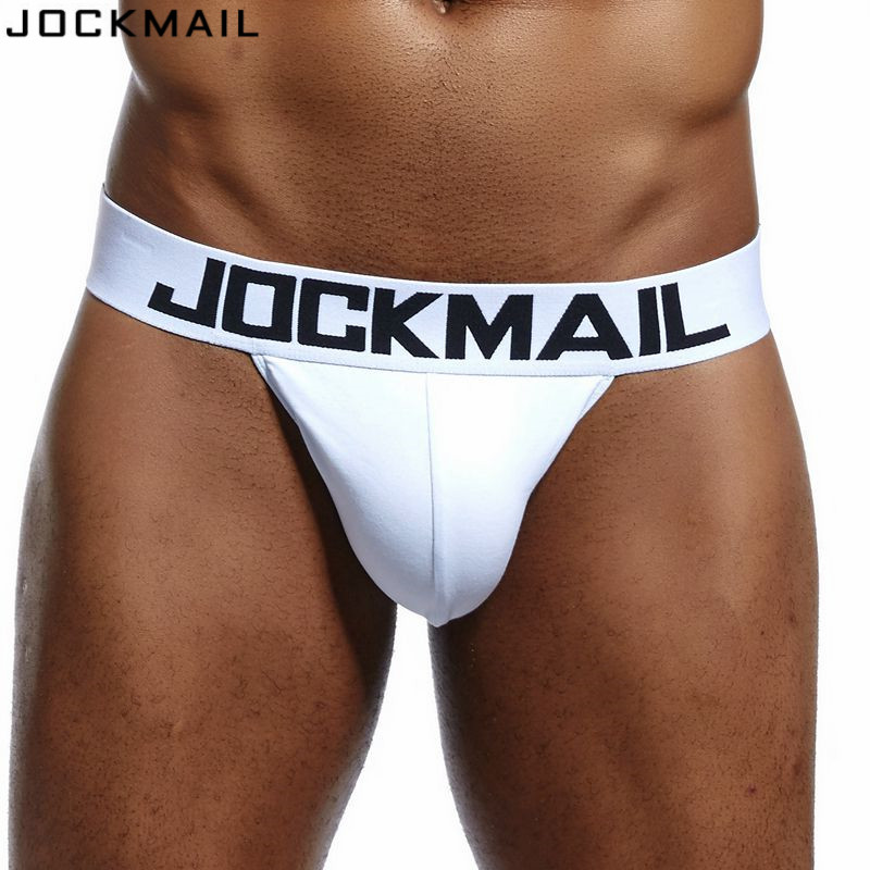 JOCKMAIL Brand Mens Bikini Gay Underwear Sexy Mens String Bikini Briefs Cuecas Calzoncillos Hombre Slip Cotton Mens Panties