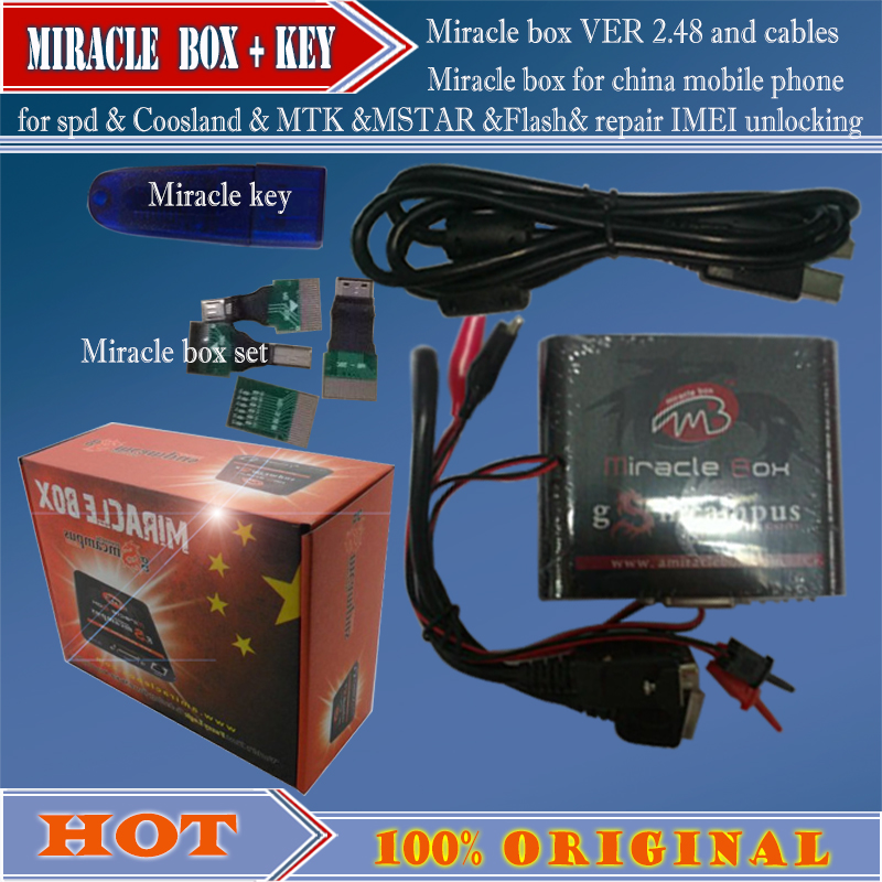 US $128 0 |gsmjustoncct Miracle key with cables V2 48 update for china  mobile phones Repairing-in Telecom Parts from Cellphones &  Telecommunications