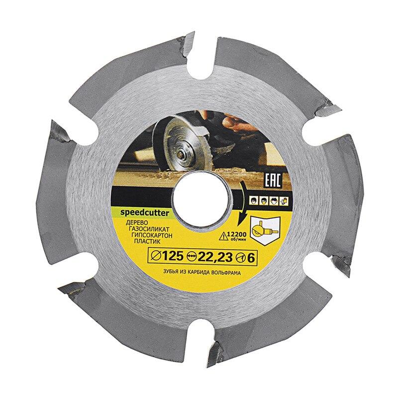 DANIU 125mm 6 Teeth Circular Saw Blade Carbide Tipped Wood Carving Cutting Disc For Angle Grinders