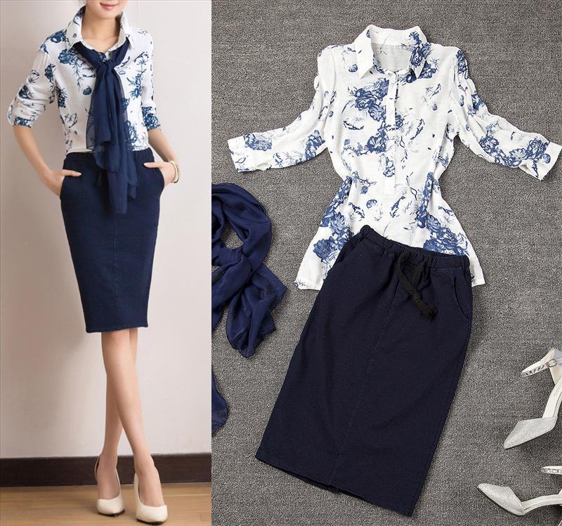 Popular Denim Skirt Suits-Buy Cheap Denim Skirt Suits lots from ...