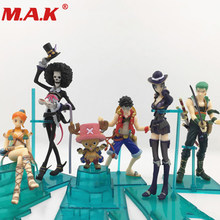 6pcs/lot 5-12CM PVC Japanese cartoon anime figure one piece Q version action figure collectible model toys brinquedos with box(China)