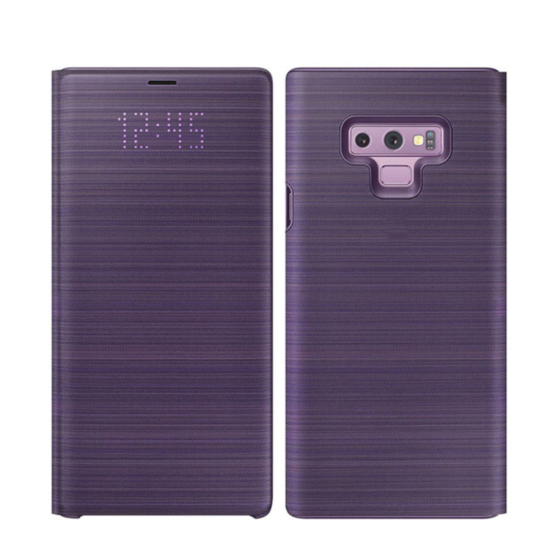 For Samsung Galaxy Note 9 Case LED Wallet Cover 360 Cute Luxury Leather Shockproof note9 Flip Card Pocket Holder Cover