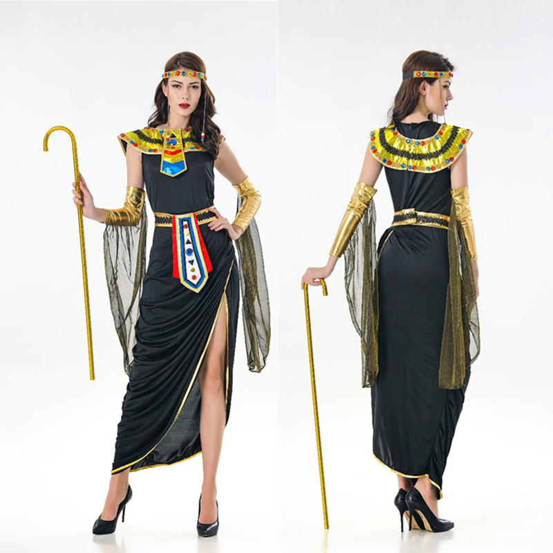 Deluxe Sexy Cleopatra Costume Halloween Greek Goddess Cosplay Clothing Adult Egyptian Queen Masquerade Party Dress Holidays Costumes Aliexpress