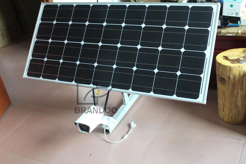 4G camera and solar panel