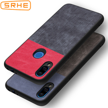 SRHE For Xiaomi Redmi Note 7 Pro Case Redmi Note 7S PU Leather and Denim Soft Silicone Full Back Cover For Xiaomi Redmi Note 7 srhe for xiaomi redmi note 7 pro case cover note 7s vintage cloth fabric soft silicone full back cover for redmi note 7s note7