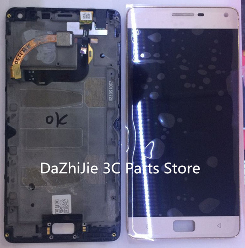 For Lenovo Vibe P1 LCD Display Touch Screen Digitizer Assembly With Frame  Replacement Parts  Free Shipping+Track Number vibe x2 lcd display touch screen panel with frame digitizer accessories for lenovo vibe x2 smartphone white free shipping track