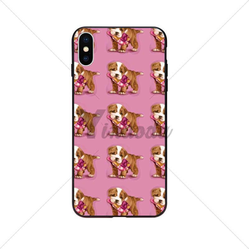 Para 11 pro max animal Cão Filhote de Cachorro Pug Chihuahua Acessórios Do Telefone Caso de Telefone para o iphone X XS MAX 6 6S 7 7plus 8 8Plus 5 5S XR