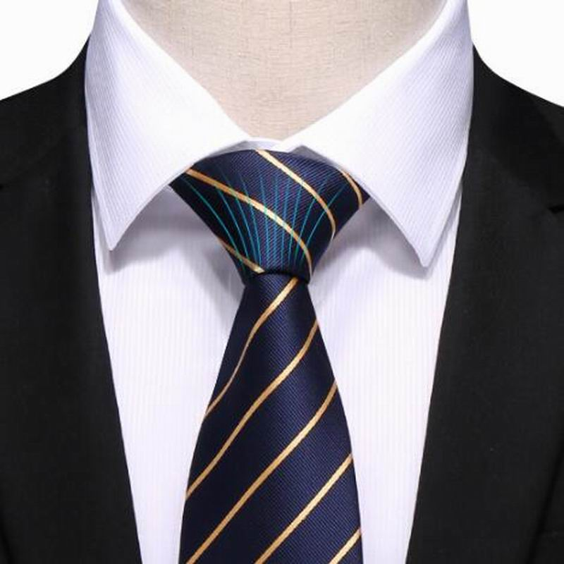 100% Silk Ties 8 Married Men Business Suits Tie Man Fashion Accessories Striped Jacquard Woven Classic Tie