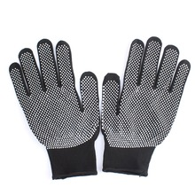 HOT Sale 1 Pair Hair Straightener Perm Curling Hairdressing Heat Resistant Finger Glove Black Grey Color #82683