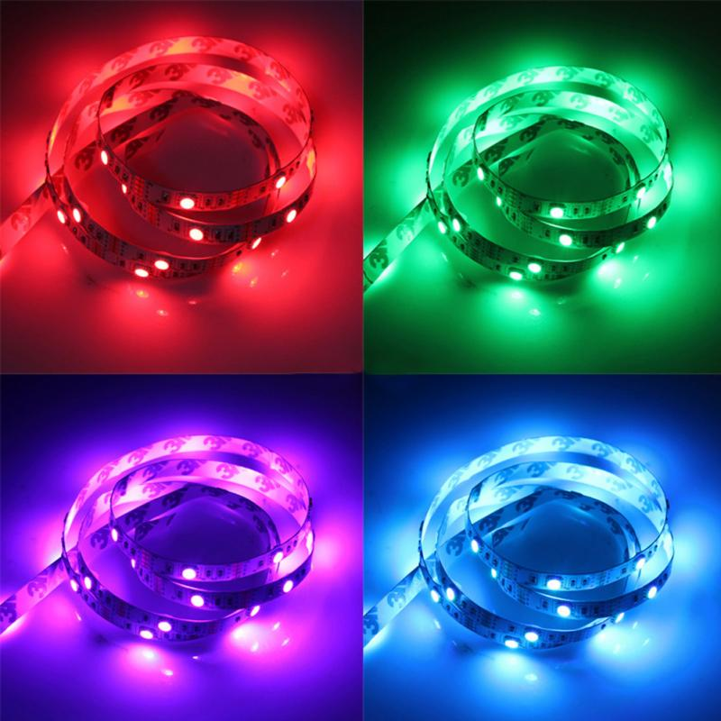 1M USB Power Supply LED Strip Tape TV Background Lighting DIY Decorative Lamp Camping Lights Bicycle Festival In Holiday From