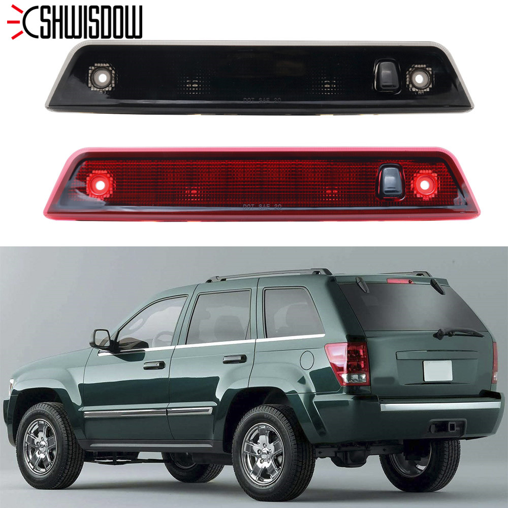 LED High Mount Stop Rear Tail Warning Light Lamp Red / Smoke Car Auto Third 3RD Brake Light for Jeep Grand Cherokee 2005-2010