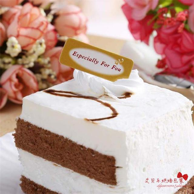 50pcs Lot Bakery Packaging Especial For You Happy Birthday Cup Type Cake Decoration Plug In Card31x12Cm