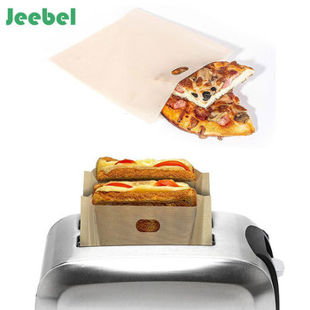 Jeebel Non Stick Reusable Toaster Bags for Sandwich Grilling Microwave Heating Pastry Tools Bakeware Teflon Bag Tools Тостер