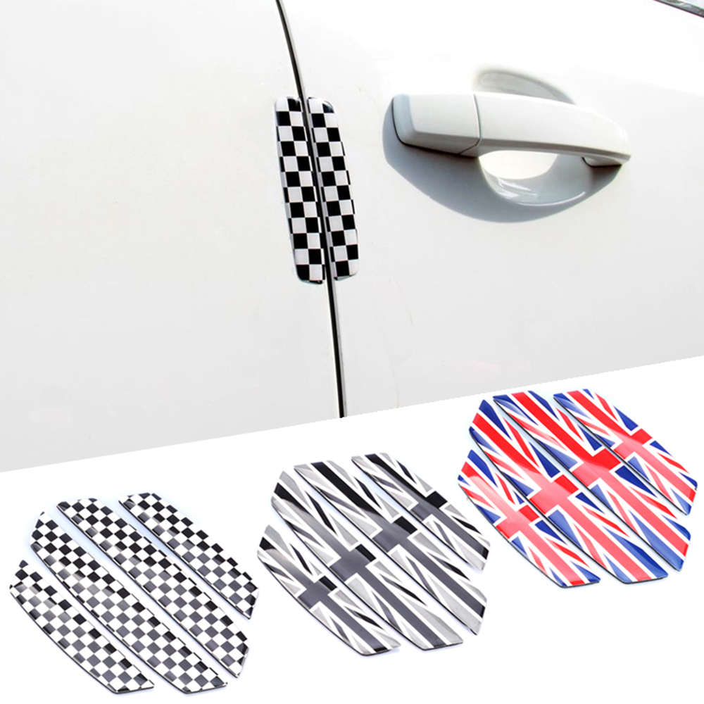 4pcs Car Anti Collision Scratch Protector Auto Barriers Door Edge Guard Sticker For Mini Cooper JCW One Car Styling Accessories ball style pvc anti collision angle guard for kids translucent white