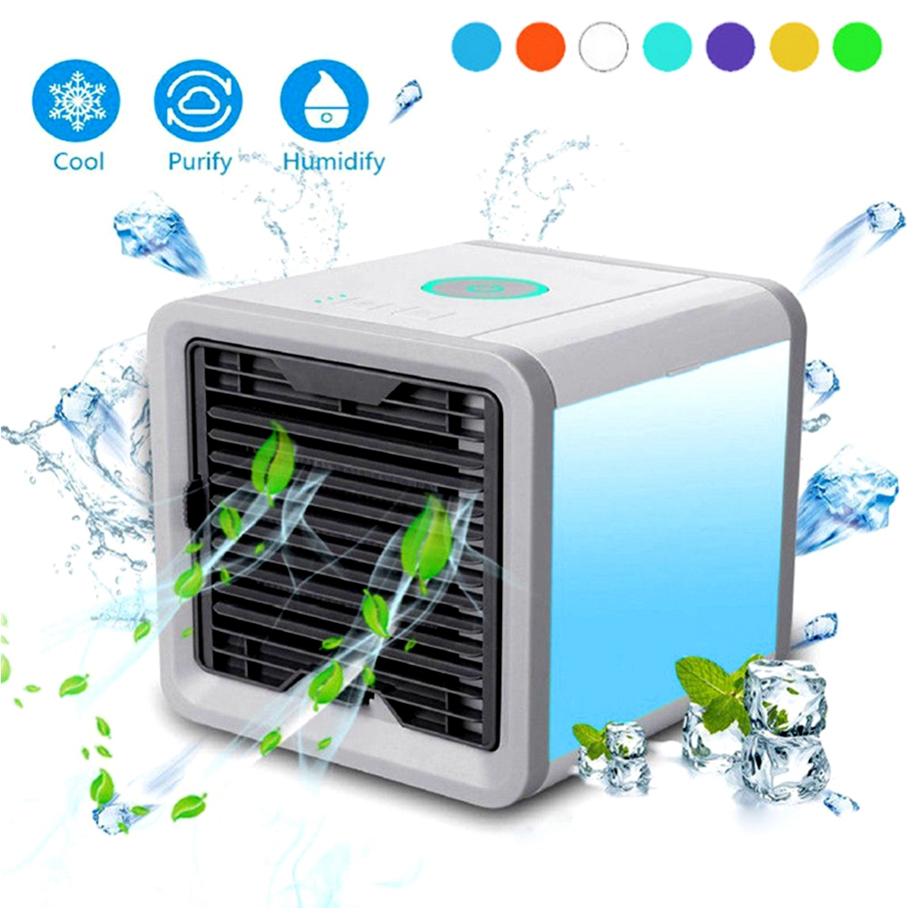 Portable Air Cooler Space Mini Air Conditioning Machine Nightlight Space Air Conditioner Device Home Office Desktop Cooling Fan air conditioning