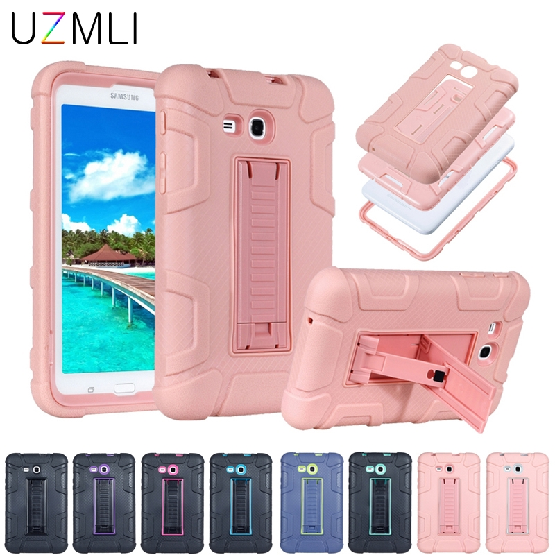 Shockproof Case For Samsung Galaxy Tab 3 Lite/Tab E Lite 7.0 T110 T111 T113 T116 Kids Kickstand Armor Silicone Hard Case Cover
