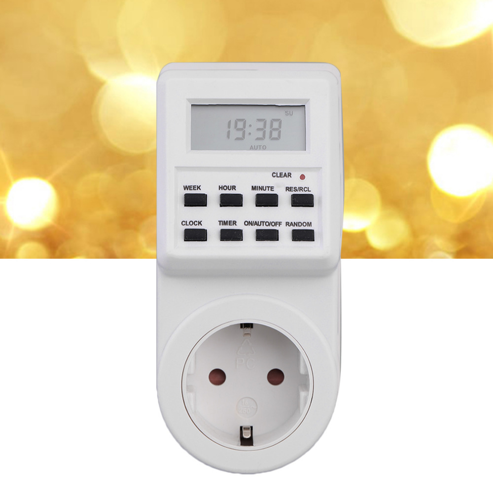 Plug-in Programmable Timer Switch Socket with Clock Summer Time Random Function new arrival rii da r01 smart programmable timer socket