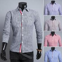 Foreign trade new winter 2015 ribbon decoration tartans Casual Shirts 5 color 9113