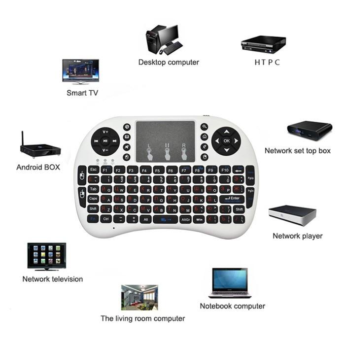 Mini անլար ստեղնաշար 2.4 գ touchpad փոքր - Համակարգչային արտաքին սարքեր - Լուսանկար 4