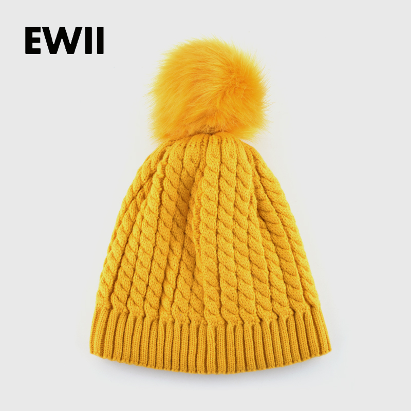 2017 female winter hat knitted hats for women beanie ...