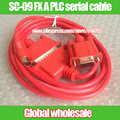 PLC programming data download cable SC09 / SC-09 FX A PLC serial cable for Mitsubishi FX0S / FX1S / FX0N / FX1N / FX2N / 3U
