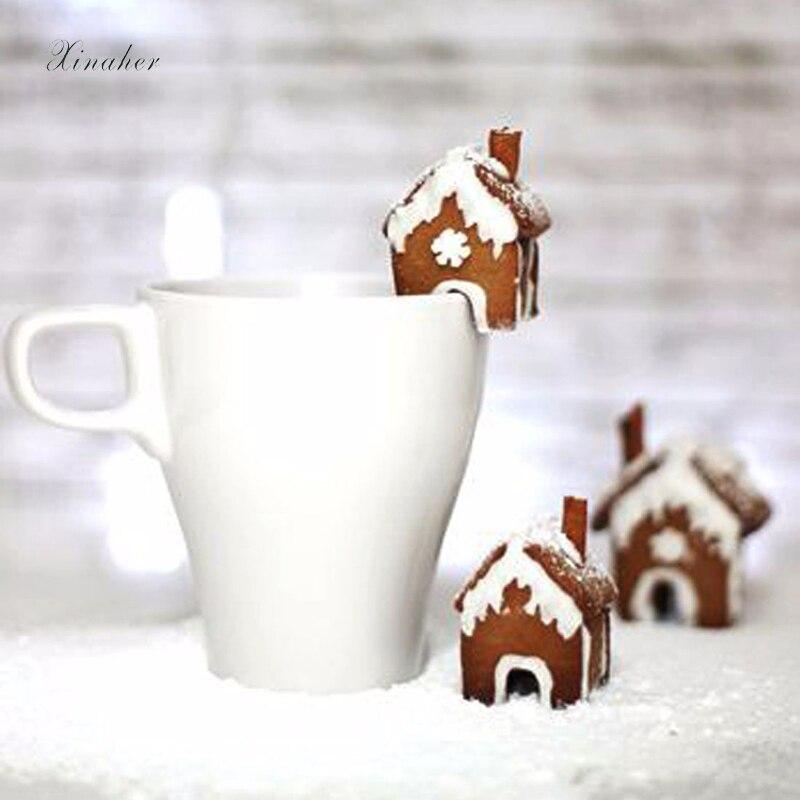 XINAHER DIY 3D выпечки мини рождественские формы в виде дома из нержавеющей стали бисквит Фондант форма печенья резак для украшения торта инструмент прессформы|Инструменты для выпечки печенья|   | АлиЭкспресс