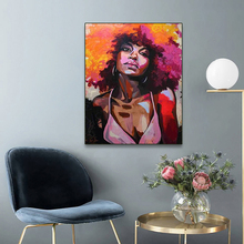 Laeacco Canvas Calligraphy Painting Modern Girl Posters Prints Abstract Figure Wall Art Portrait Picture Living Room Home Decor