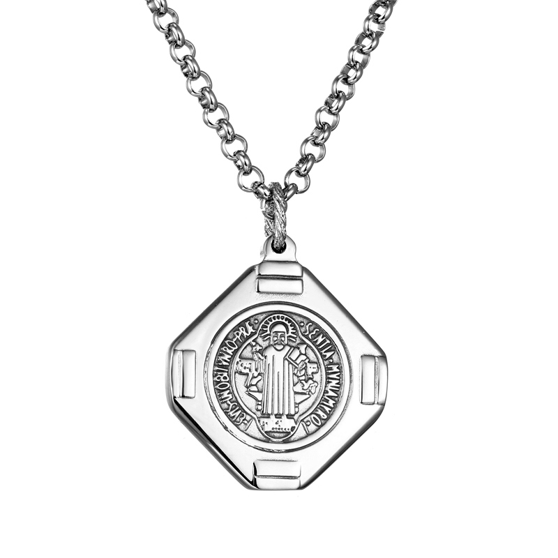 product Men Woman Titanium Steel Necklace Man Cross Necklace Man Praying Holy Article Dominic Toretto Jesus Pendant Long Necklaces