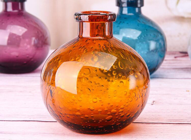 Bubble Glass Vases Hand Blown Flower Vases Bedroom Table Vase Simple Home  Decoration