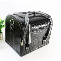 New Women Professional Large Oxford beauty cosmetics case large organizer makeup tattoos nail tool art bag jewelry cosmetic box