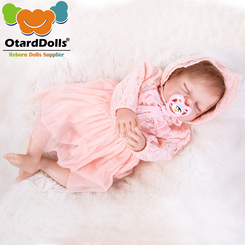 OtardDolls Silicone Reborn Baby Doll Toys 50cm <font><b>Princess</b></font> <font><b>Toddler</b></font> Babies Like Alive Bebe sleeping Girls Brinquedos Birthday Gift image