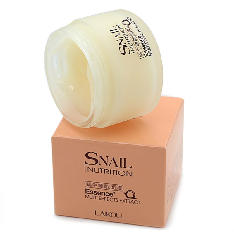 75g Snail Sleeping Mask Essence Moisturizing Night Cream Anti Aging Wrinkle Cream as shown 1