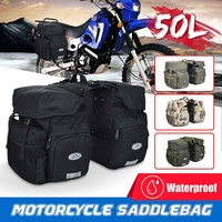 50L Waterproof Rear Side Seat Saddlebags For Motorcycle Bicycle Carrier Scooter Bag Travel Bag 4Colors Fashionable