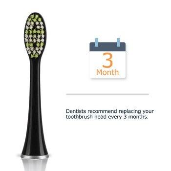 Сменные насадки для электрической зубной щетки Mornwell D01B, 4 шт. 4