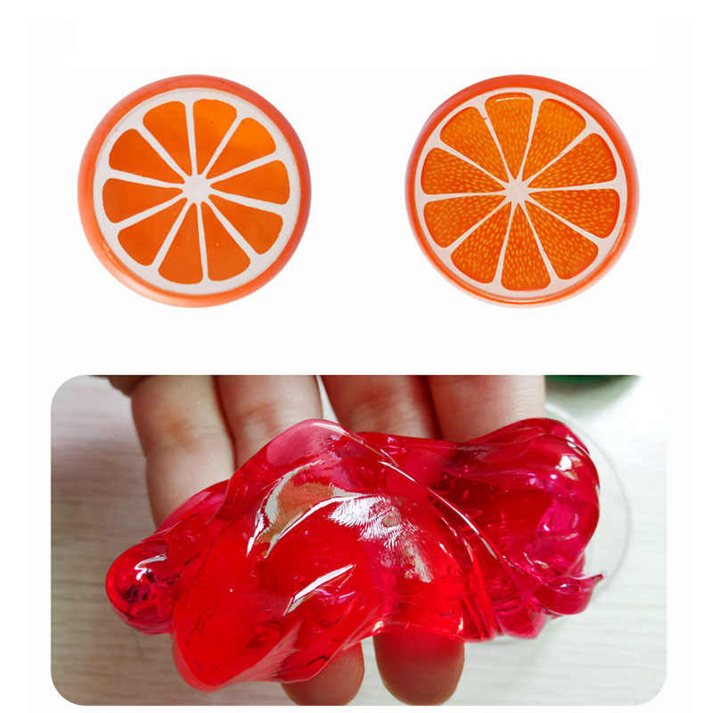 Fruit Crystal Slime Fluffy Slime Charms Child Soft Clay Anti-stress Plasticine Mud Kids Educational Toys Puzzle Gift Stationery